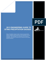 2013 Engineering Guide to Sitiing Precipitation Gauges