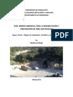 """Guía Minero Ambiental Para La Rehabilitación y Preparación de """"Mina San Nicolas"""""""