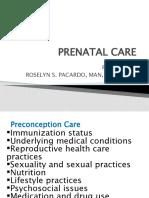 Nle Review Class - Prenatal Care