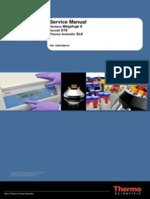 Service Manual - Sorvall - Heraeus - Thermo Scientific - Megafuge 8