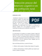 Detección Precoz Del Deterioro Cognitivo en una Población Rural