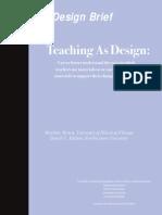 Teaching as Design-Final