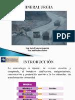 PDF de Clase de  Mineralurgia   de La  Universidad Continental