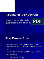 Review of Derivatives