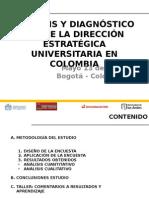 Analisis y Diagnostico Sobre La Direccion Estrategica Universitaria en Colombia