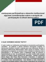 Aula GPP - Instituições Participativas