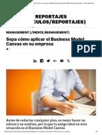 Sepa Cómo Aplicar El Business Model Canvas en Su Empresa