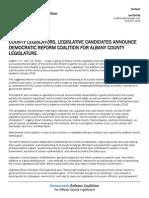Albany County Legislators, legislative candidates announce Democratic Reform Coalition