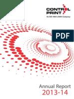 Control Print Annual Report 2013-14