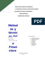 Metodos y Tecnicas Del Estado Financiero