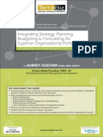 Integrating Strategy, Planning, Budgeting & Forecasting