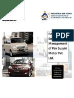 54589935 Supply Chain Management of Pak Suzuki Motor Pvt Ltd
