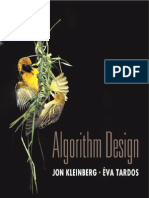 Algorithm Design by Jon Kleinberg and Eva Tardos, Tsinghua University Press (2005)