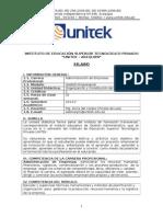 Silabus Organizacion y Constitución de Empresas