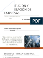Constitucion y Organización de Empresas