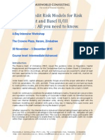 Basel II-III Credit Risk Modelling and Validation Training Brochure