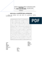 Classroom Expression Word Puzzle