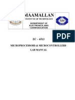 EC 6513 Microprocessor and Microcontroller manual