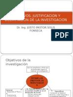 OBJETIVOS, JUSTIFICACION Y DELIMITACION DE LA INVESTIGACION