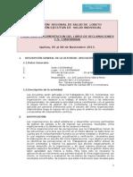 Plan de Implementacion Del Libro de Reclamaciones Contamana 2013