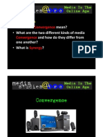 • Starter Task • What Does Convergence