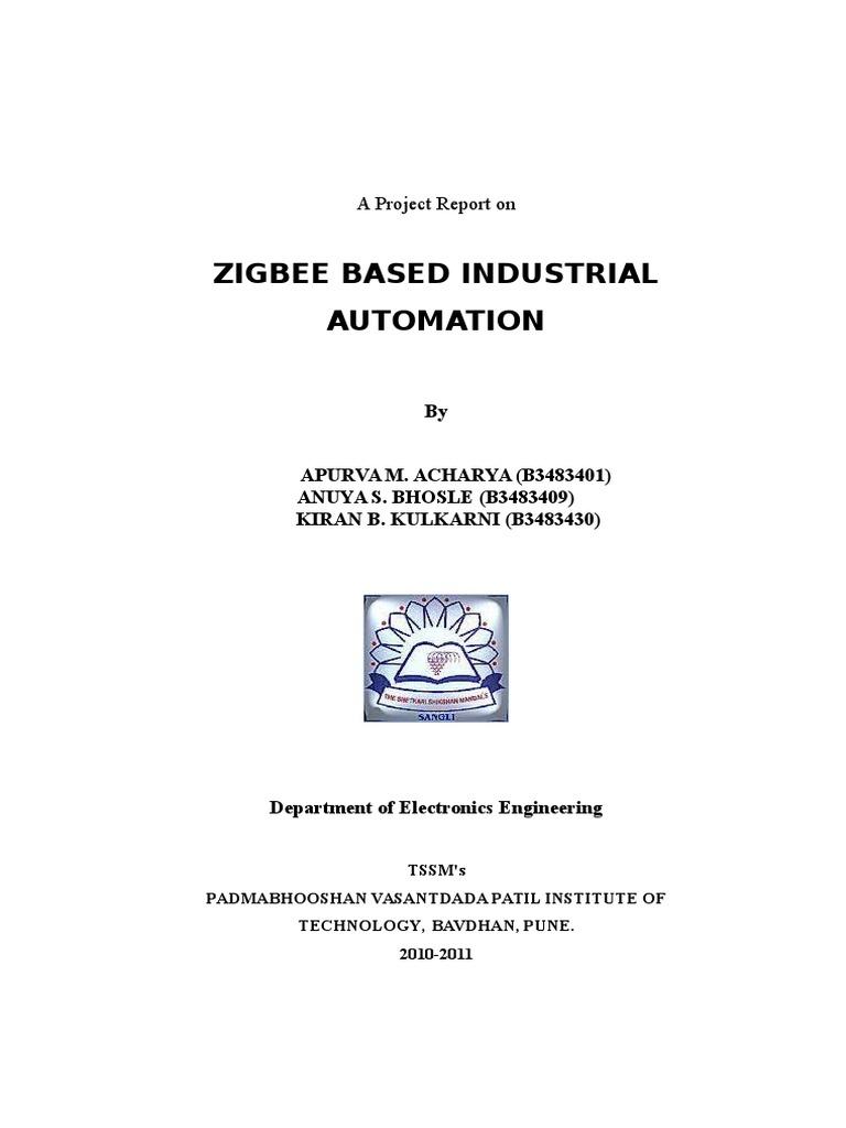 Zig Bee Sensor Node Pvpit Report Wireless Lan Computer Engineering Spdt Relay In Expresspcb