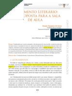Rildo Cosson - artigo sobre letramento literário