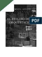 Adler El Estudio de La Orquestacion