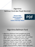 Algoritma Floyd Warshall Dan Bellman Ford