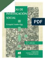 Ciencias de investigación Social