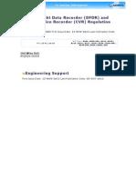 DFDR CVR Regulations