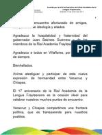 15 01 2011 XVII Aniversario de la Rial Academia de la Lengua Fraylescana