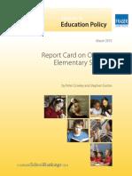Fraser Institute Report Card on Ontario's Elementary Schools 2015