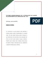 Proyecto de Ivestighacion de Algodon Lambayecano