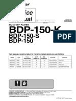 Pioneer RRV4300 - BDP-150-K,BDP-150-S,BDP-150