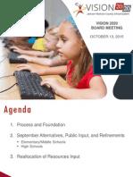 Vision 2020 presentation - October 2015