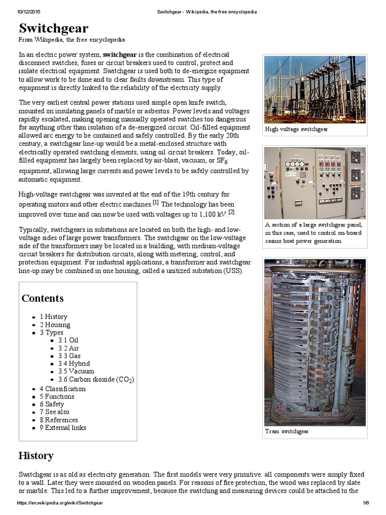 Switchgear Complete Hhh Electric Arc Electrical Equipment Circuit Breaker Wikipedia The Free Encyclopedia