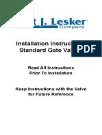 standard gate valves manual