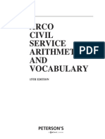 Civil Service Arithmetic and Vocabulary Print