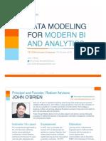 T5AP OBrien Data Modeling for Modern BI and Analytics