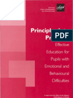 Principles Into Practice - Effective Education for Pupils With Emotonal and Behavioural Difficulties