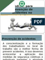 medidas para prevenção de acidentes no trabalho