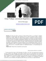 Julia Inés Muzzopappa- César Vallejo- convulsión lingüística y dolor humano- nº 39 Espéculo (UCM)