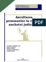 Ascultarea Persoanelor in Cadrul Anchetei Judiciare