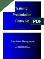 Demo of Franchise Management