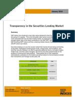Transparency in the Securities Lending Market IntroFinal Jan2010