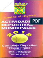Actividades deportivas municipales