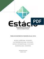 Lista de exercício de Matemática Financeira