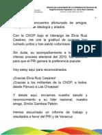 14 01 2011 Informe de la presidenta de la Confederación Nacional de Organizaciones Populares, Lic. Elvia Ruiz Cesáreo
