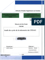 Audit Du Cycle Trésorerie CESAG
